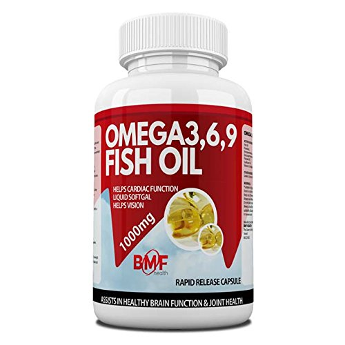 BMF Health High Strength Omega 3,6,9 Essential Fatty Acids 1000mg Made in The UK to GMP Standards