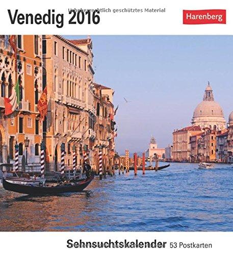 Venedig 2016: Sehnsuchtskalender, 53 Postkarten