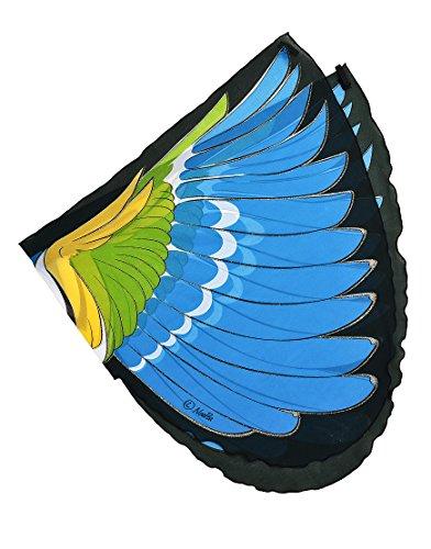 Dreamy Dress-Ups 50576 Wings, vleugels, Blue-Winged Warbler, vogel blauwe vleugels boszanger Vermivora cyanoptera