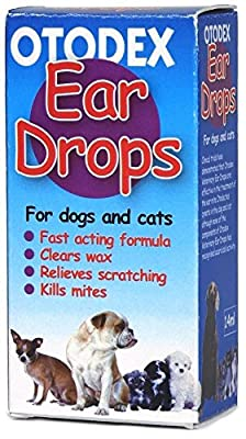 SIPW Otodex Cat and Dog Ear Drops - kills mites removes wax 14ml (Otodex Ear Drops) from Animals