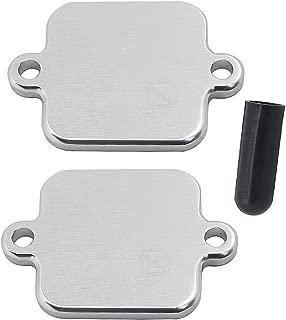 Alpha Rider Smog Block Off Plates Kit Blocker For Kawasaki ZX6 ZX10R For Yamaha R1 R6 Silver