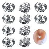 5 pares Tapones pendientes tapón del pendiente plata esterlina 925 accesorios de joyería...