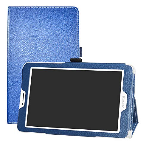 "LFDZ Archos Core 70 3G V2 Custodia, Slim Ultra Pelle Sottile e Leggera Cover Case Custodia per 7"" Archos Core 70 3G V2 Tablet(Not Fit Archos Core 70 3G),Blu"