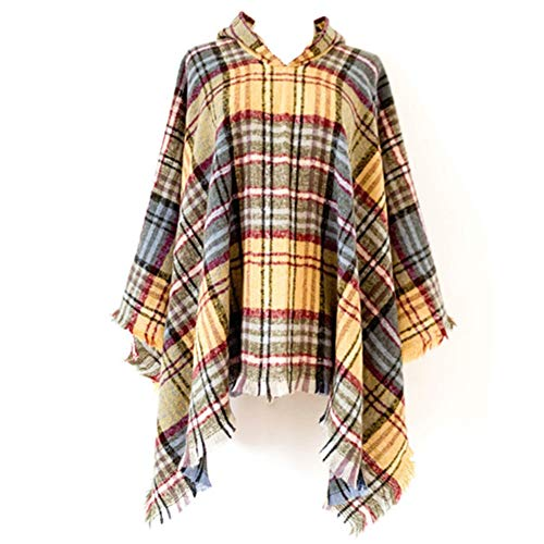 Uusialku Boho Fall Winter Fashion Tassel Shawl Wraps for Women,Ladys Soft Warm Party Plaid Shawl for Women(Style DP-5)