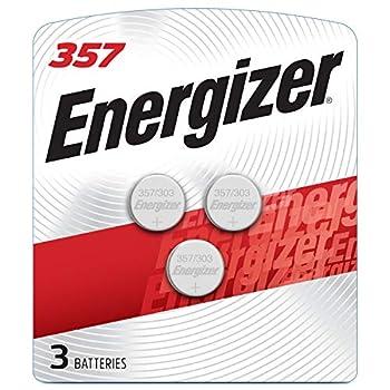 Energizer LR44 Battery Silver Oxide 303 357 AG13 or SR44 1.5 Volt Batteries  3 Battery Count