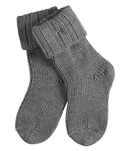FALKE Baby Socken Flausch - Baumwollmischung, 1 Paar, Grau (Light Grey 3400), Größe: 62-68