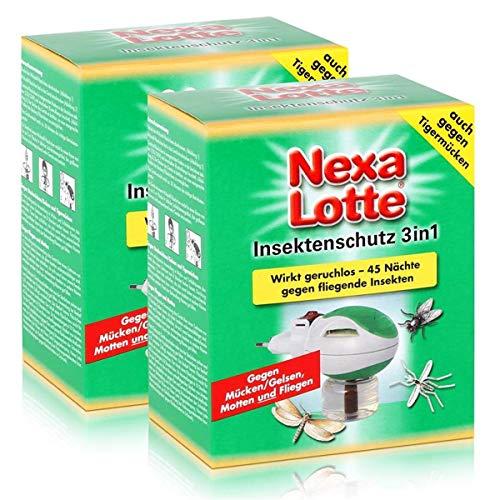 Nexa Lotte Insektenschutz 3in1 Stecker - gegen fliegende Insekten (2er Pack)