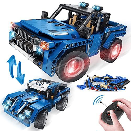 VATOS Technik STEM Konstruktionsspielzeug Baukasten Fernbedienung 2-in-1 SUV Geländewagen 2.4 GHz Pickup Auto 353 Teile Lehrbausatz für Jungen Alter 6 7 8 9 10-12