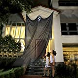 10ft Halloween Props Scary Hanging Ghost Decorations Death Reaper Skeleton Skull Flying Ghost Horrible Creepy Halloween Decoration for Yard Outdoor Indoor Background Bar Party Supplies Decor
