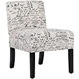 Dining Chairs Accent Chair Armless Chair with Solid Wood Legs Home Furniture for Urban Style Living Room Armless Chair Modern Accent Chair Elegant Design Modern Fabric Living Room Chairs