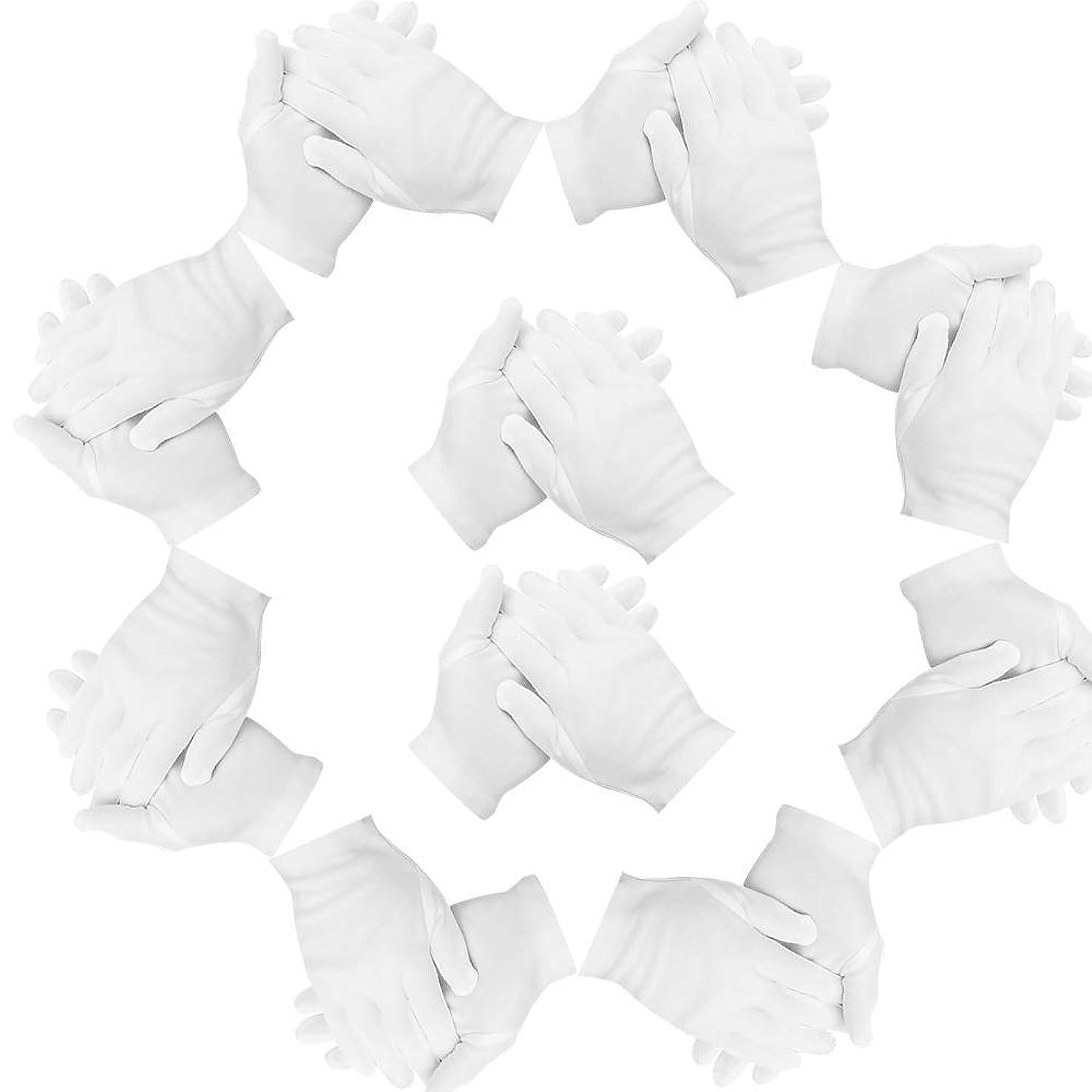 クリックゼロ険しいTeenitor コットン手袋 Lサイズ 綿手袋 20枚入り インナーコットン手袋 手荒れ予防 白手袋 綿 作業用 湿疹用 乾燥肌用 保湿用 家事用 礼装用 男女兼用