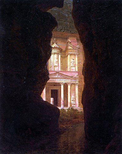 Das Museum Outlet–EL Khasne, Petra von Frederick Edwin Church–Poster (61x 45,7cm)