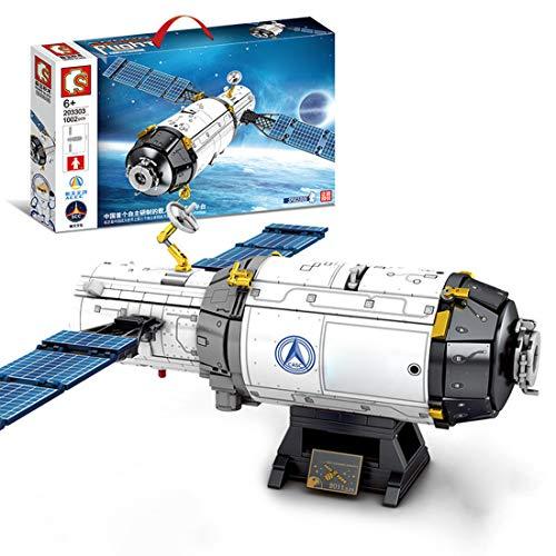 HYZM Technik Luft- und Raumfahrt Serie Bausteine, 1002 Stücke Raumschiff mit Minifiguren Bauspielzeug, Kompatibel mit Lego