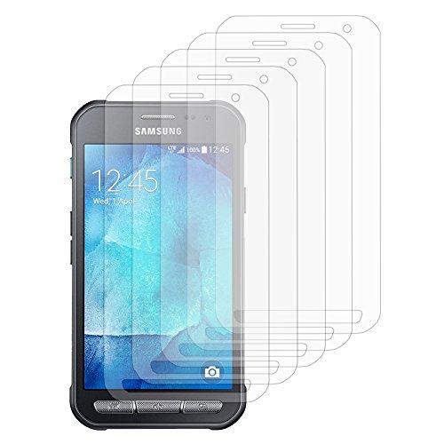 VComp-Shop® 5x Transparente Bildschirmschutzfolie für Samsung Galaxy Xcover 3 SM-G388F - TRANSPARENT