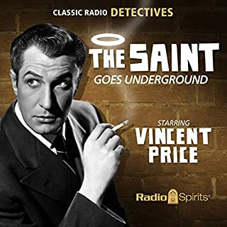 The Saint Goes Underground audiobook cover art