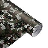 QEUhang 2 PCS Camouflage Autofolie Sticker Tarnfolie 152 X 30CM Selbstklebend Car Wrapping Auto...
