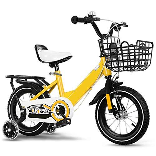 Bicicletas para niños, 12 14 16 16 pulgadas Hombre y femenino Carriajes de bebé de 2 a 9 años de edad Bicicleta para niños Marco de acero alto-carbono, con estabilizadores, cesta 4 colores antidesliza