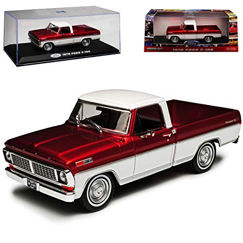 Greenlight Ford F-100 Pick-up Rot 5. Generation 1966-1972 1/43 Modell Auto