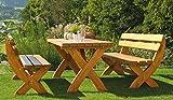 Design Holzgarnitur Holz Sitzgruppe Rainbach edel und stabil - 2