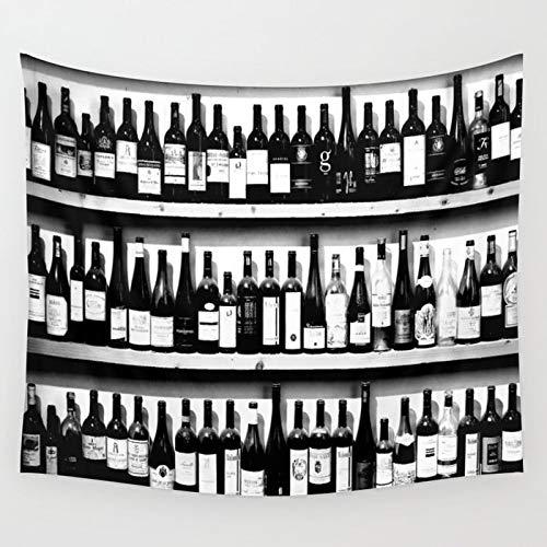 Bdhbeq Botella de Vino Tapiz Colgante de Pared decoración de la Pared Dormitorio decoración del hogar Tapiz de Pared Yoga mat130x150cm