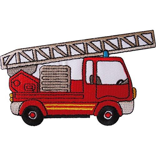 Parche bordado para planchar o coser en el camión de bomberos para chicos chaquetas y bolsas de jeans