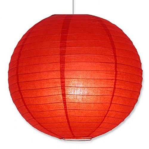 "10"" (25cm) Paquete de 6 Linternas de Papel Farolillo Papel Redondo para decoración (Rojo)"