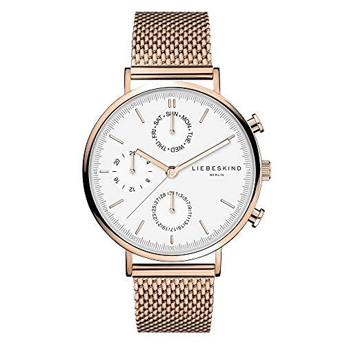 Liebeskind Berlin Damen Multi Zifferblatt Quarz Uhr mit Edelstahl Armband LT-0193-MM