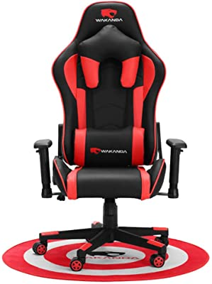 Gaming Chair, YQAD Ergonomic Reclining 360 Or So Rotation 90°-170° Adjustability Racing E-Sport Chair for PC Office Computer Chair for Adult Gamer Armchair with Lumbar Support and Headrest-1