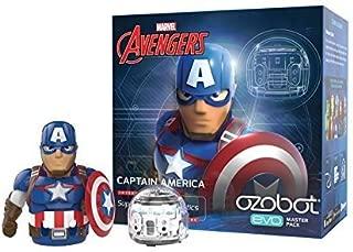 Evo App-Connected Coding Robot, Captain America (White)