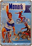 Mulrcks Monark Bicicleta 20 x 30 cm metal estaño decoración de la pared de la barra del hogar decoración de la lata placa adecuada para cafeterías, restaurantes, hoteles, casas rurales jardín