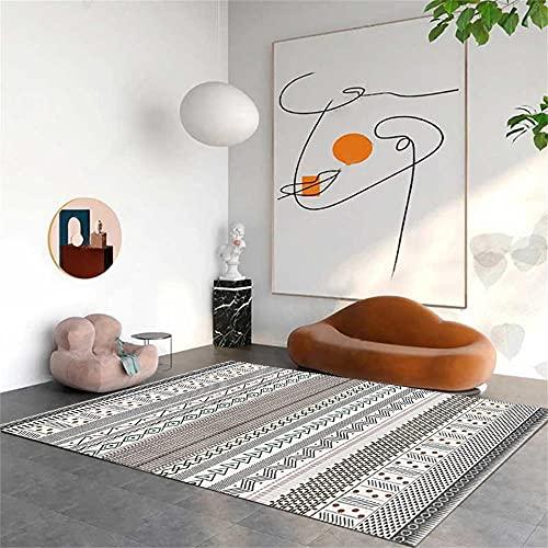 Sofa Teppiche Hall Teppiches Geometrischer Teppich, bestehend aus Linien, einfach, warm und leicht zu kümmern Autdoorteppich 50x80cm