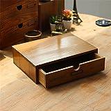 Scaffale portaoggetti in legno vintage con cassettiera, cassettiere del tesoro, decorazione da scrivania in legno, organizer per riporre oggetti artigianali Kangsanli