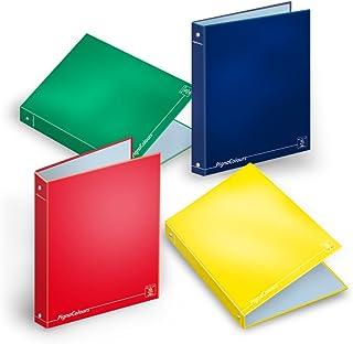 Blu - 1 Rigo Confezione da 10 pezzi - Fogli A4 di ricambio COLOURS rinforzati per Quaderni e Raccoglitori 80gr 40 Fogli cad.