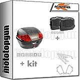 kappa maleta k400n + maletas laterales kgr33npack2 + portaequipaje monolock + portamaletas lateral monokey compatible con triumph bonneville t100 2020 20