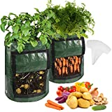 4-Pack 10 Gallon Potato Grow Bags - Plant Growing Bags w/Drainage...