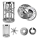 Katosca Two Pieces Classic Unlocking Toy Puzzle Cast Metal Brain Teaser Game (Level 6) Puzzles for Kids and Adults Ages 12 and Up (Labyrinth Lock&Cage Lock)