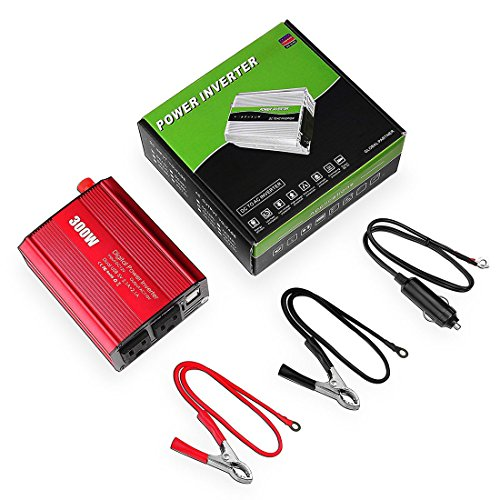 BeiLanカーインバーター 300W 車載充電器 シガーソケット ACコンセント DC12VをAC100V-110Vに変換 2.4A出力USBポート iPhoneやAndroidスマホなどのUSB充電