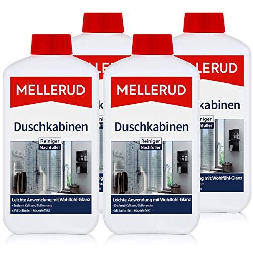 4x Mellerud Duschkabinen Reiniger Nachfüller 1L