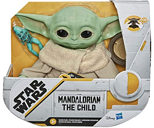 Holland Plastics Original Brand Star Wars- The Mandalorian- The Child Talking Plush Toy. Nothing in The Galaxy is as Cute!