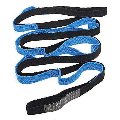 Correa de Estiramiento de Yoga Multi-Loop Cuerda de Antigravedad de Yoga Aérea Ideal para Fitness en el Hogar, Baile, Pilates, Fisioterapia