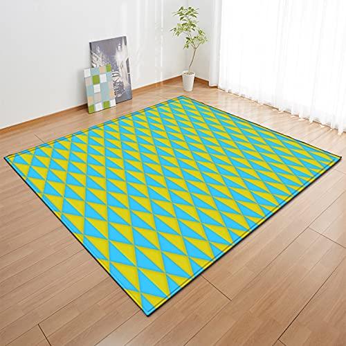 MENEFBS Alfombra mullida para sala de estar, antideslizante, para dormitorio, suave y acogedora, alfombra de guardería, antideslizante, 1,2 x 1,6 m