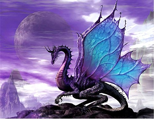 5D Diamond Painting Full Square Drill Dragon Paint by Number Kits Embroidery Paintings Pictures Arts Craft for Home Wall Decor