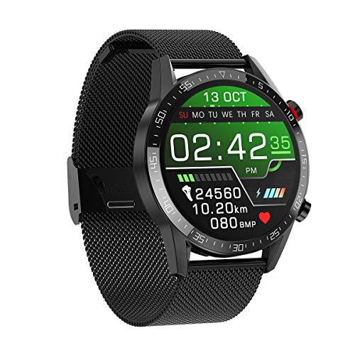 DASLING smartwatch 1.3 pulgadas control táctil pantalla de color reloj deportivo fitness reloj IP68 cronómetro impermeable con podómetro monitor de sueño 12 modos deportivos (negro)