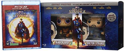 Prestige 3D + Blu-Ray 2D + Figurines Pop (Funko) de Doctor Strange et Kaecilius-Édition Exclusive Amazon limitée