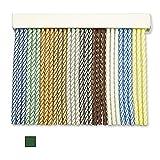 Cortinas Exterior Puerta de Cordon   Tiras Plastico PVC y Barra Aluminio   Ideal para Terraza y Porche   Antimoscas   Blanco-Verde   210 * 90