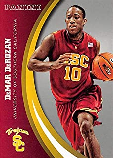 DeMar DeRozan basketball card (USC Trojans) 2015 Panini Team Collection silver insert variation #36