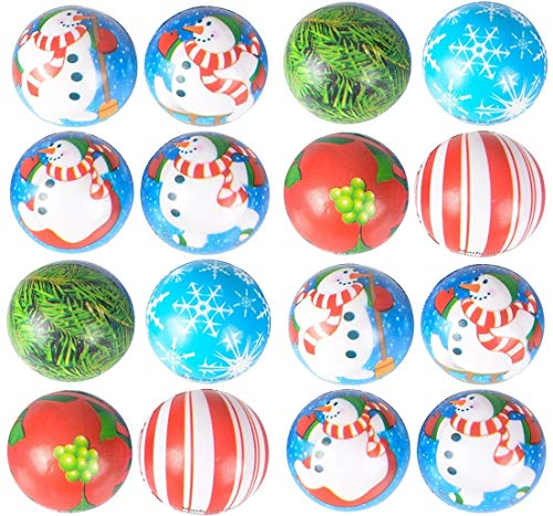Happy Deals~ 50 Pack Assortment -Christmas Themed Stress Squeeze Toy Ball Assortment