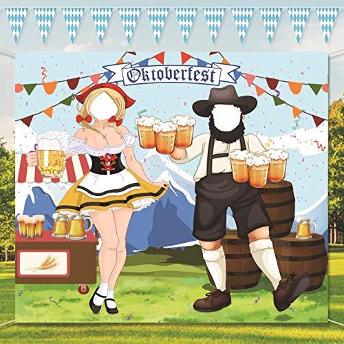 Oktoberfest Party Dekorationen Oktoberfest Foto Requisit, Riesiger Stoff Foto Stand Hintergrund, Lustige Oktoberfest Spiel Versorgungen für Bayerisches Bier Festival