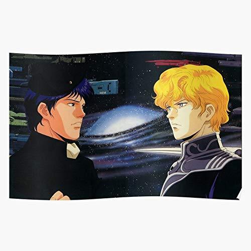 ZHONGYANYAN Densetsu Poster Eiyuu Ginga Gift for Home Decor Wall Art Print Poster