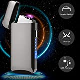 Best Flameless Lighters - Dual Arc Electric Lighter USB Rechargeable with Battery Review